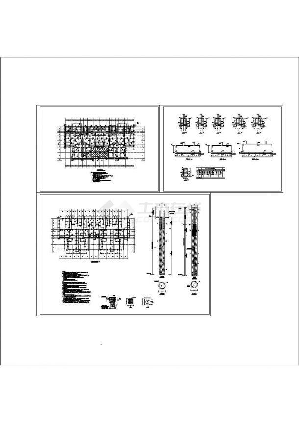 钻孔灌注桩基础及承台节点详图-图一