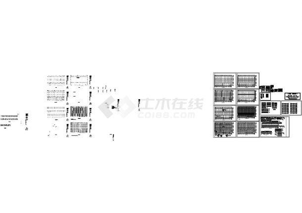 西宁市多层超市钢结构设计施工图-图一