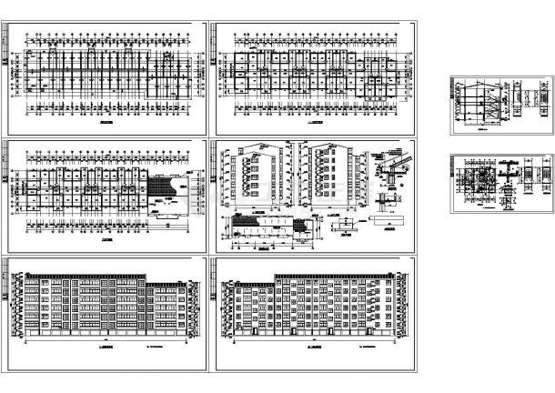 某市经济适用房CAD设计全套建筑方案图纸(标注详细)-图二