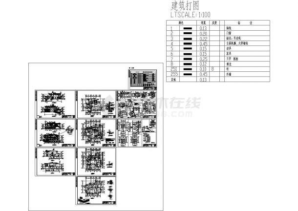 某小区两层剪力墙结构别墅建筑设计cad全套方案图(含设计说明)-图一