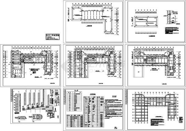 杭州学生公寓住宅楼配电系统设计施工cad图纸,共八张-图二