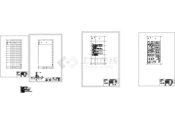 【杭州】某地669平米购物广场全套建筑施工设计cad图纸-图一