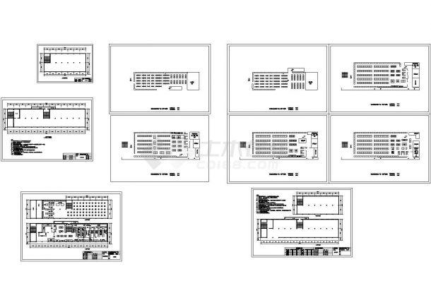 【杭州】某地960平米购物广场卖场全套装修设计cad图纸-图一