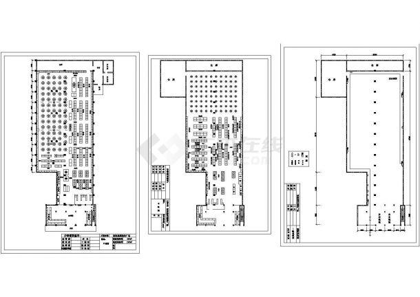 【浙江】某市930平米购物广场全套装修施工设计cad图纸-图一