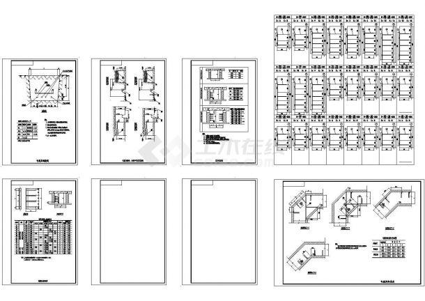 典型电缆敷设-电缆沟及支架尺寸CAD图纸(甲级院设计)-图一
