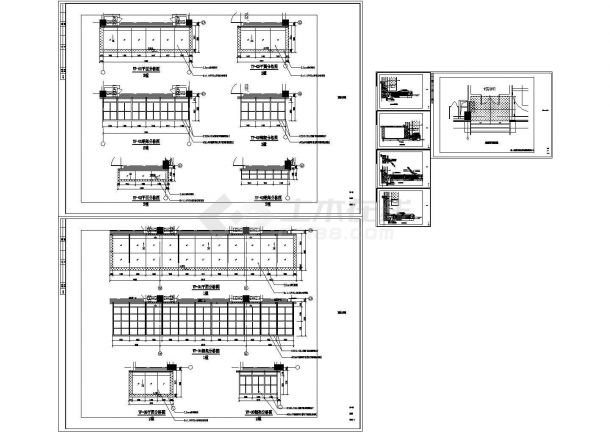 某玻璃雨棚设计cad节点大样图纸(标注详细)-图二