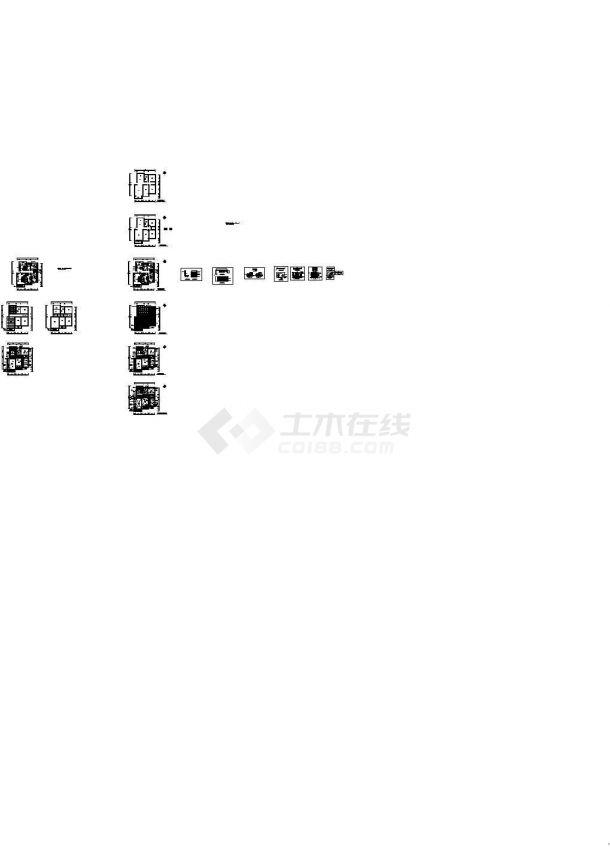 某地现代红色调风格装施cad图纸【原始结构 平面布置 地面铺装 顶面布置 顶面灯位尺寸 室内立面 6张JPG室内效果图】-图一