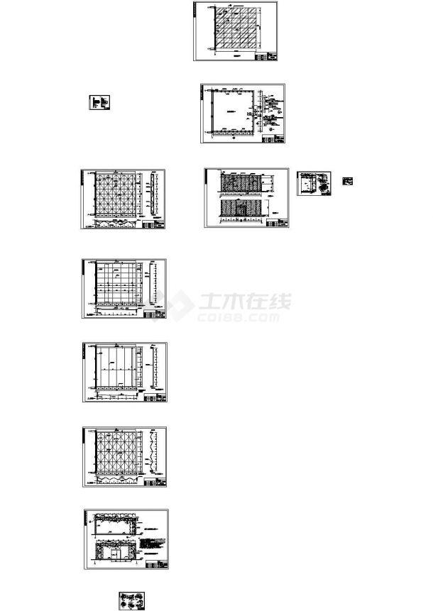 南昌某网架玻璃阳光房设计cad全套结构施工图纸( 含设计说明)-图二