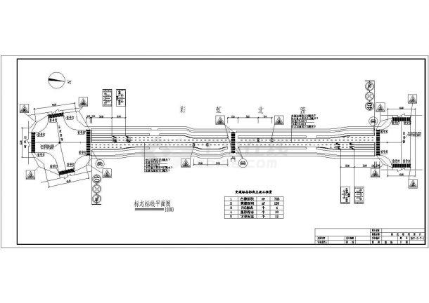 某市道路交通标志牌设计cad全套结构图(标注详细,种类齐全)-图一