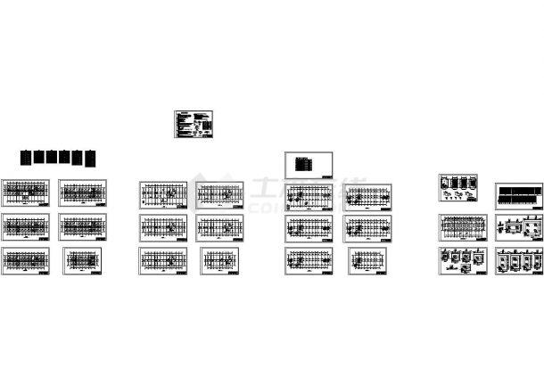 某六层框架结构办公楼土木工程毕业设计cad全套结构施工图纸(含设计说明)-图二