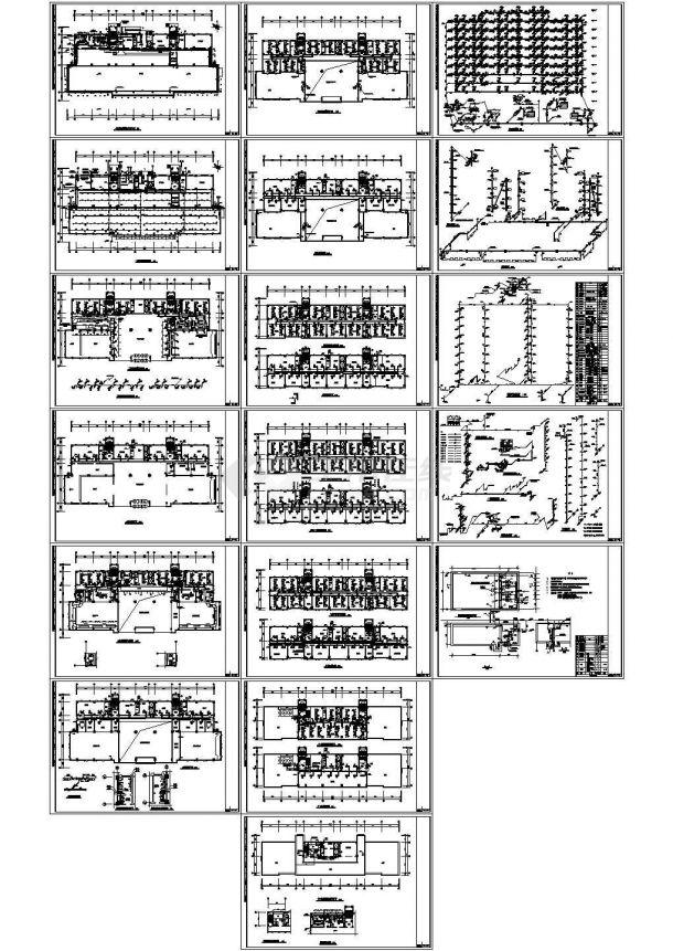 某多层办公楼溴化锂空调设计cad详细施工方案图纸(标注详细,18张图)-图一
