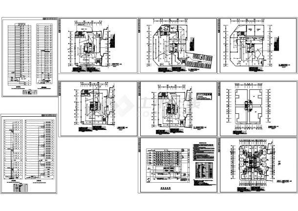 学生公寓住宅楼弱电系统设计施工cad图纸,共十张-图二