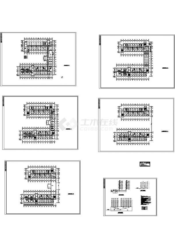 学校宿舍楼弱电系统设计施工cad图纸,共六张-图一