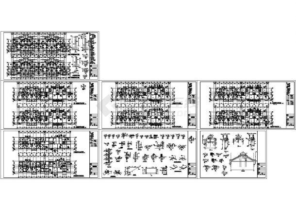 六层砖混结构住宅楼建筑施工图-图二