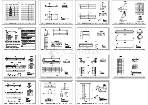 某小型桥梁及道路设计cad全套方案图纸(含设计说明,15张图)-图一