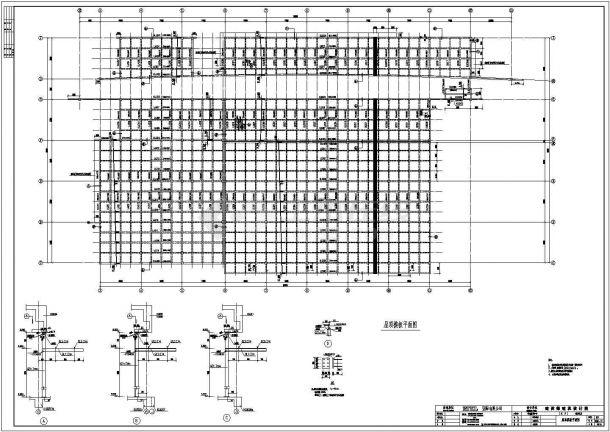 某多层轻钢结构数据机房设计cad全套结构施工图(标注详细)-图一