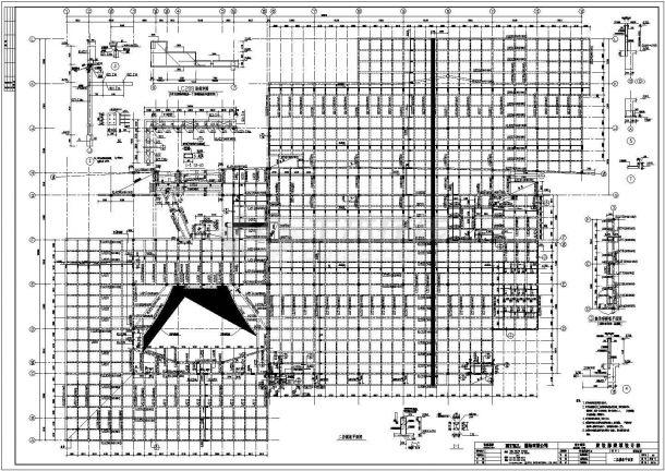 某多层轻钢结构数据机房设计cad全套结构施工图(标注详细)-图二
