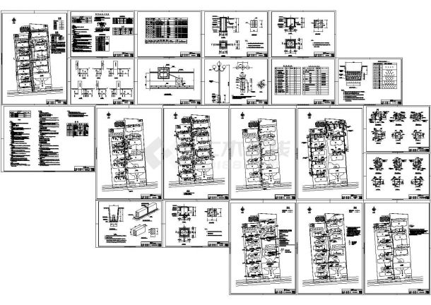 某小区室外管线设计cad全套施工图(含设计说明,含热力管道、给排水管道设计)-图一