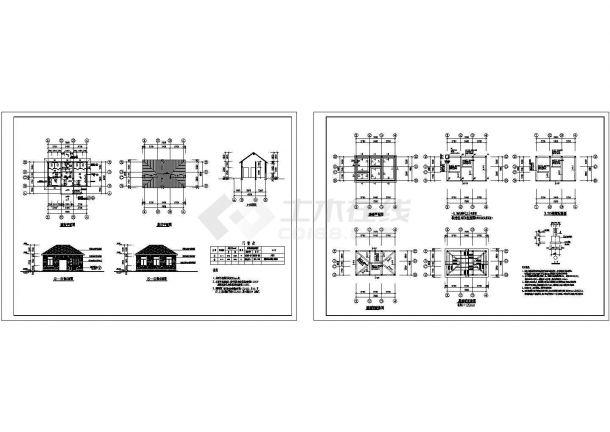 某单层公厕设计cad全套建筑施工图(含设计说明,含结构设计)-图二