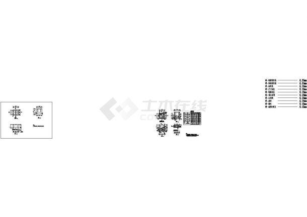 某小康经济适用房海绵城市建设工程设计cad全套施工图纸(含设计说明)-图二