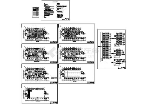 某干细胞净化实验室暖通设计cad全套方案图纸(含设计说明,含结构设计,含给排水设计,含电气设计)-图一