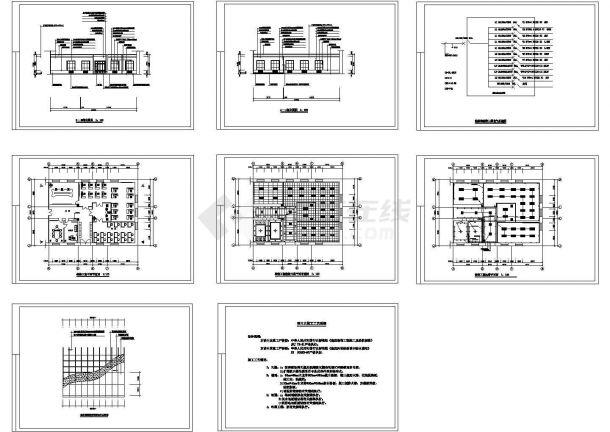 某三房型私人住宅室内装修设计cad全套施工图(标注详细)-图二