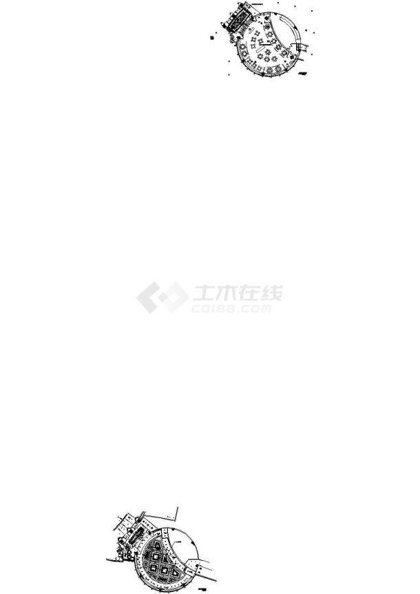 某豪华酒店圆形中餐厅装修图-图二