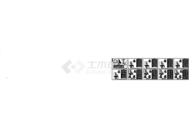 某工程4~12米扶壁式挡土墙设计cad全套施工图纸(标注详细)-图一