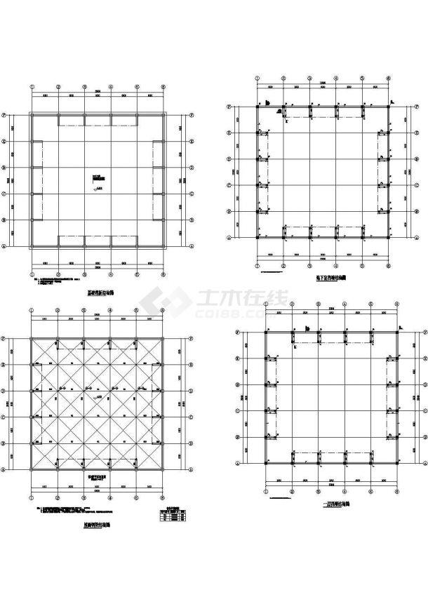 某堆场结构图及工程量统计-图一