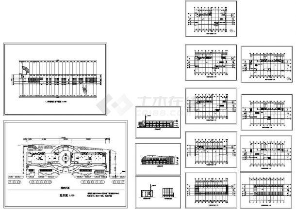 22360平方米多层大楼规划设计建筑施工cad图纸,共十四张-图一