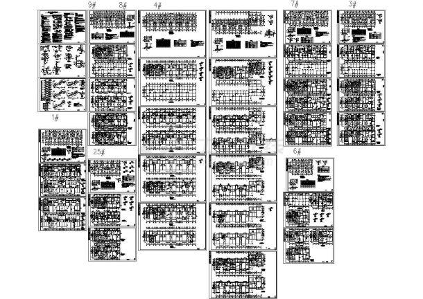 某底框结构小区住宅楼结构图纸-图一