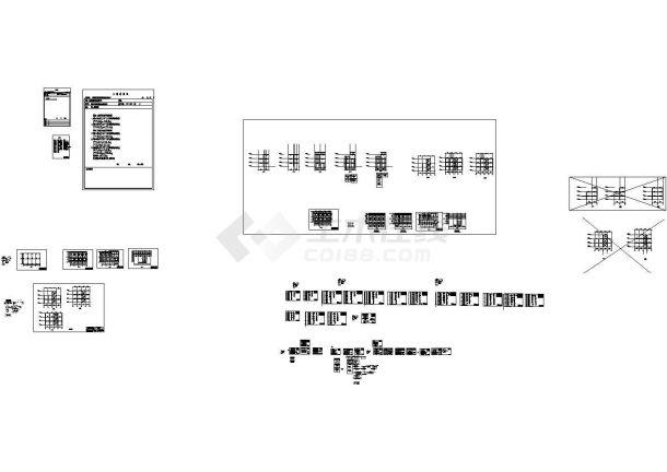 三层楼钢结构制造图CAD设计图纸-图二