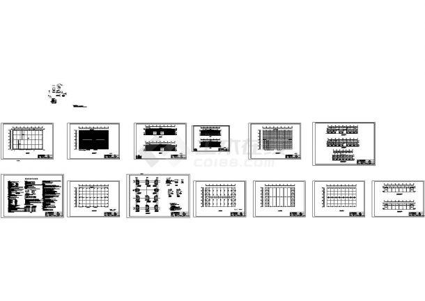 荣鑫机械公司钢结构工程CAD设计图纸-图一