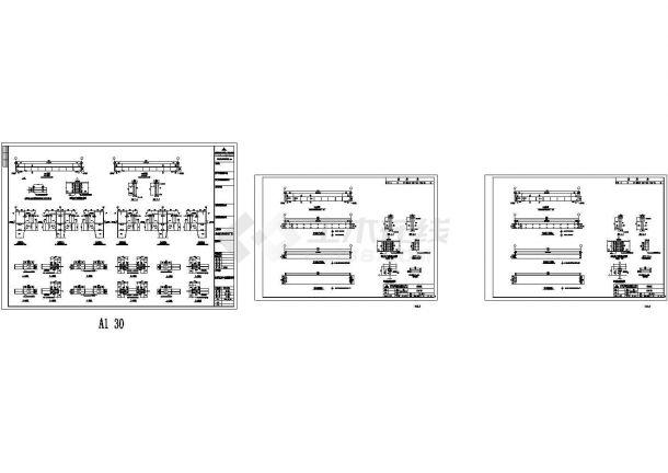 荣鑫机械公司钢结构工程CAD设计图纸-图二