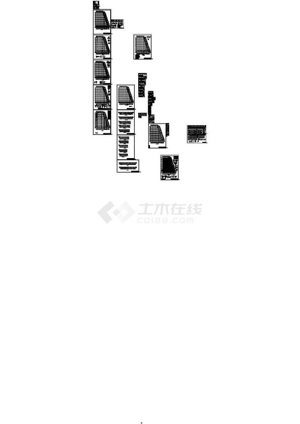 某公司投资石材城工程CAD设计图-图二