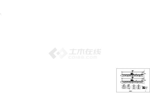16预应力砼简支宽幅空心板施工cad图,共二十张-图二