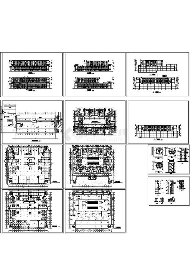 7层商住综合楼规划设计建筑施工cad图纸,共十二张-图一