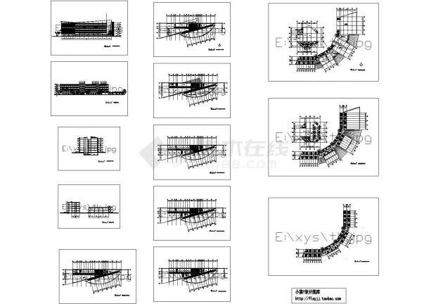 6层高级宾馆综合楼建筑设计施工cad图纸,共十三张-图一