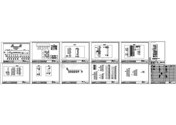经典100AH直流屏设计cad原理接线图及元件表(甲级院设计)-图二