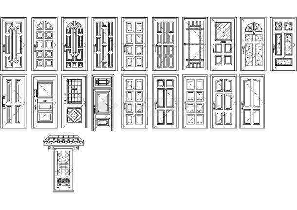 房屋建筑常用千种图块木门设计CAD图纸-图一