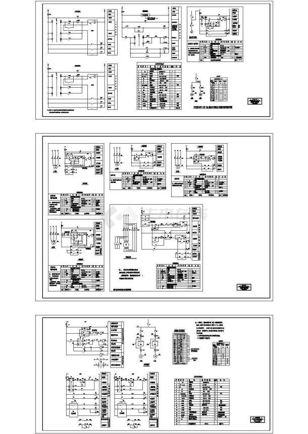 [原理图][四川]风机 、水泵控制原理图Cad设计图-图一