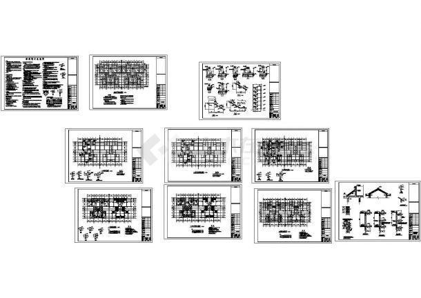 [重庆]六层砖混结构廉租房结构cad施工图-图一