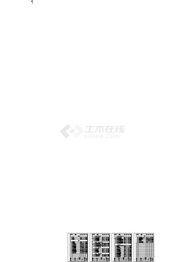 深圳联排叠拼多户型高档住宅小区给排水系统设计竣工cad图纸-图一