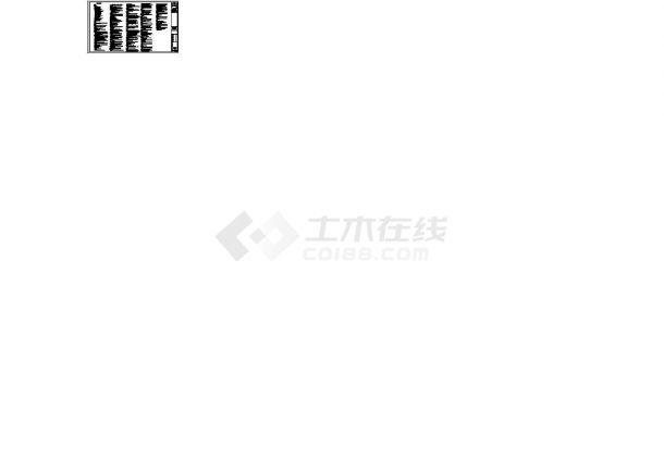 深圳联排叠拼多户型高档住宅小区给排水系统设计竣工cad图纸-图二