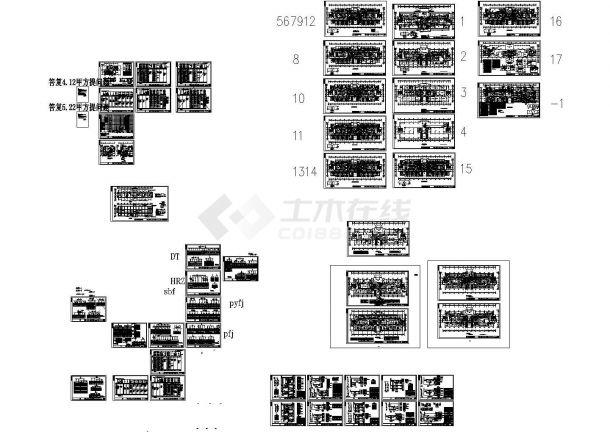 大型医院综合楼全套电气设计图纸(含完整变配电系统)-图一