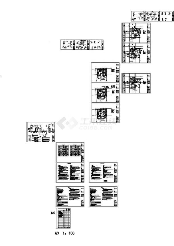 上海中水处理站建筑给排水图纸(CAD)-图一