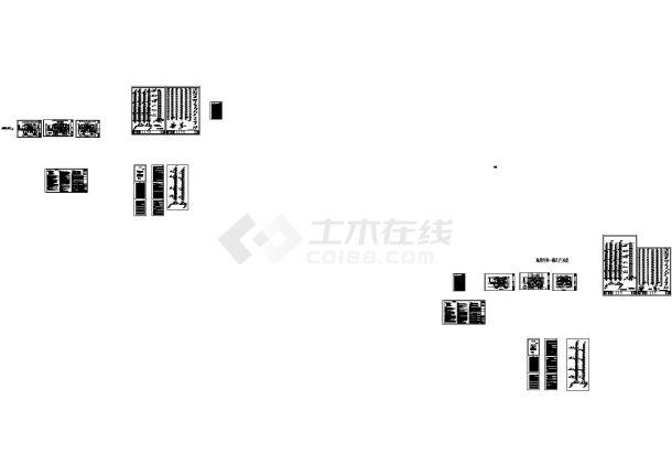 天津超高层住宅小区给排水系统设计施工cad图纸-图一