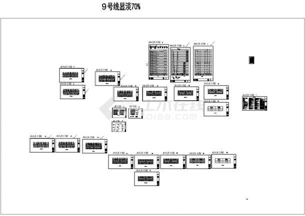 安徽超高层商住小区给排水系统设计施工cad图纸-图一