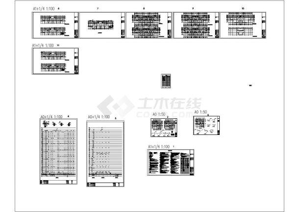 安徽超高层商住小区给排水系统设计施工cad图纸-图二