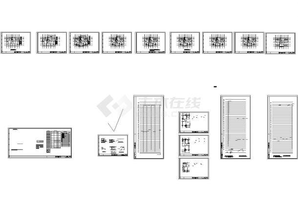 安徽超高层住宅给排水系统设计施工cad图纸,共十七张-图二